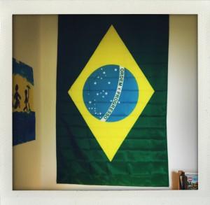 Brasilien Fahne über meinem Hochbett